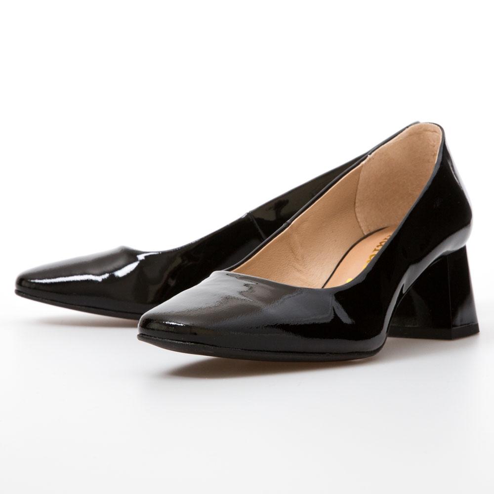 efb2e28ef42b Black Patent Midi Block Heels – Chalany Shoes
