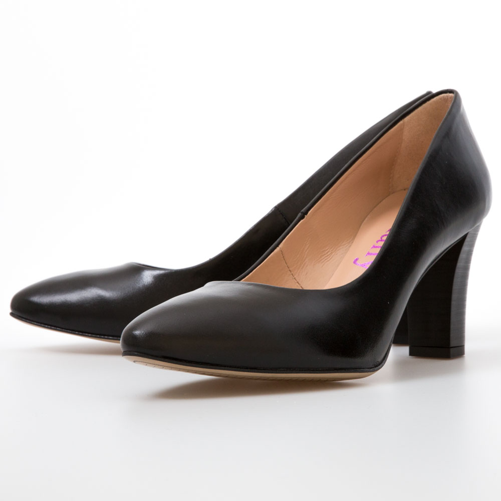 5a3899fc21fc Black Leather Heels – Chalany Shoes