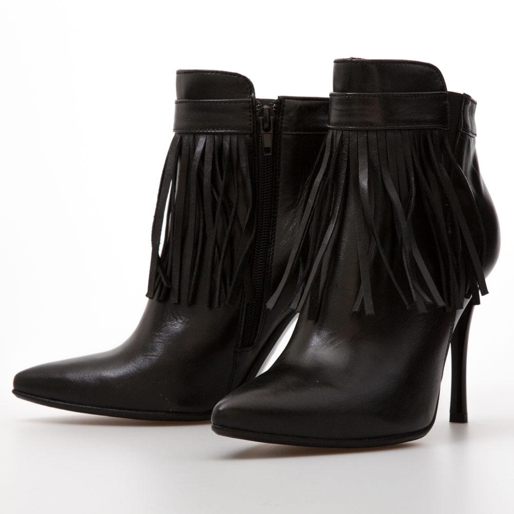 6ea24ec7e2 Stiletto High Heel Black Tassel Fringe Ankle Boots – Chalany Shoes