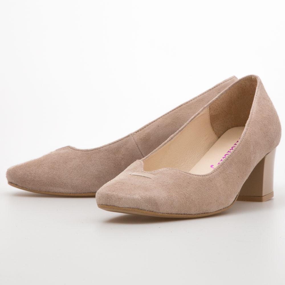 1117eadd4126 Cream Midi Block Heels – Chalany Shoes
