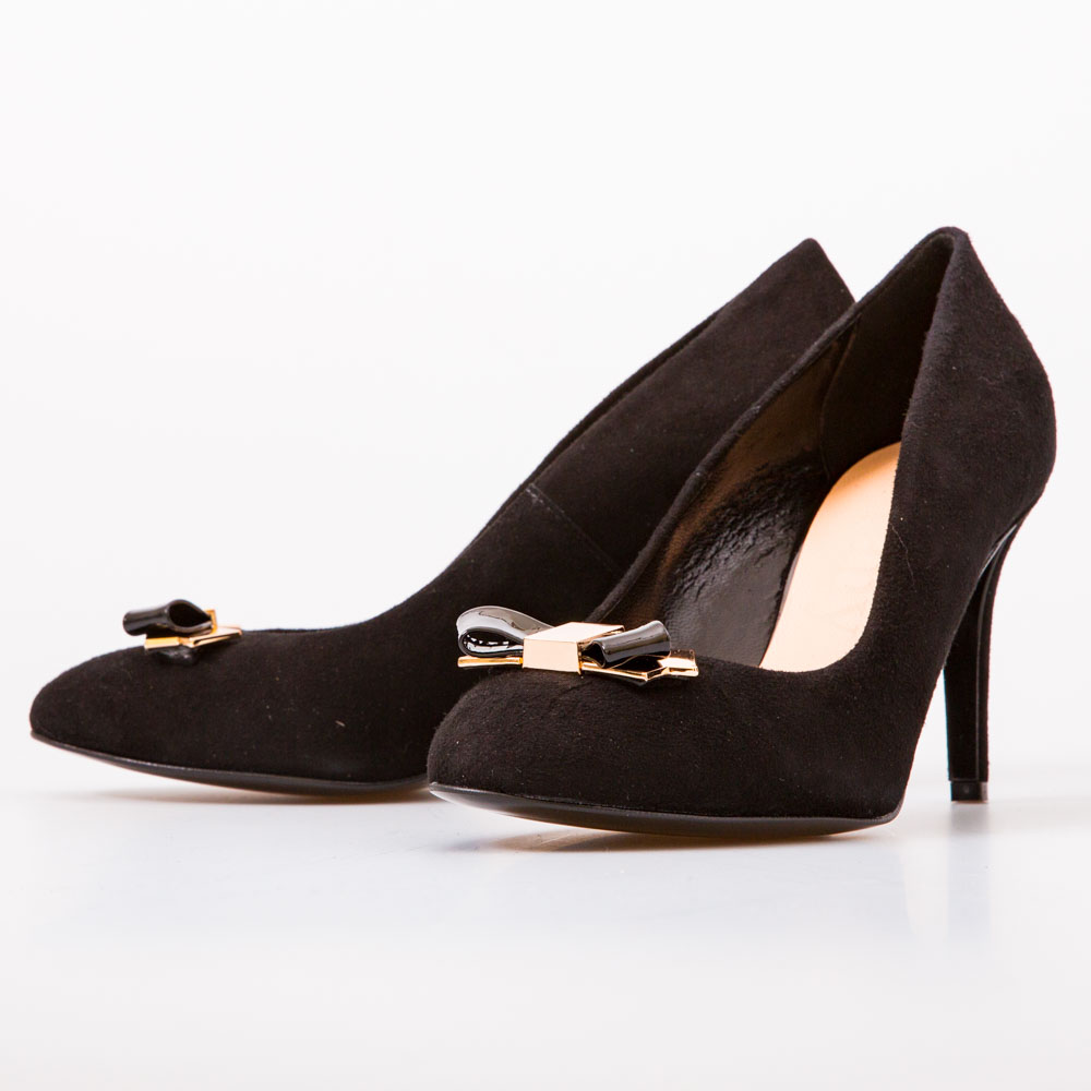 dbe3e15594cc Black Suede Heels with Bow – Chalany Shoes