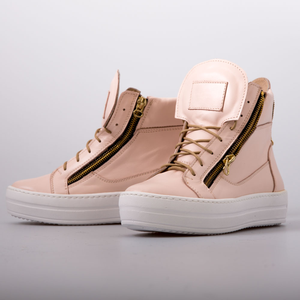 decc4f564072 Peach Lace Up Wedge Sneaker Boots – Chalany Shoes